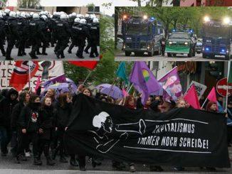 Demo durch Hamburg anlässlich des 1. Mai